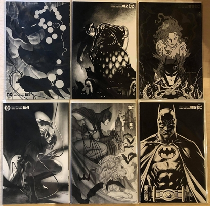 Picture of BATMAN BLACK AND WHITE #1 2 3 4 5 6 / COVER B VARIANT SET FABOK