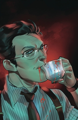 Picture of BUFFY THE VAMPIRE SLAYER TEA TIME #1 COVER B ANDOLFO FOIL VARIANT