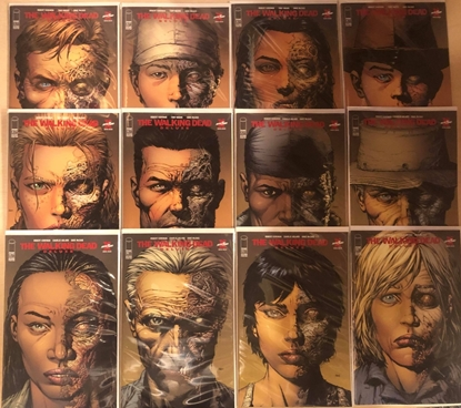 Picture of WALKING DEAD DELUXE #1 2 3 4 5 6 7 8 9 10 11 12 2ND PRINT VARIANT SET NM