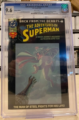 Picture of ADVENTURES OF SUPERMAN #500 / COLLECTOR'S EDITION / CGC 9.6 NM+