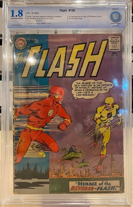 Picture of FLASH #139 / 1ST ZOOM-REVERSE FLASH / CBCS LIKE CGC 1.8 GD-
