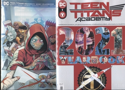 Picture of TEEN TITANS ACADEMY 2021 YEARBOOK #1 / COVER A & B SET NM
