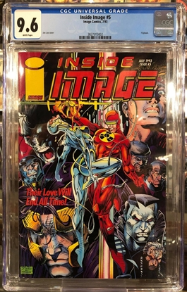 Picture of INSIDE IMAGE #5 (1993) / CGC 9.6 NM+ / JIM LEE COVER DEATHMATE
