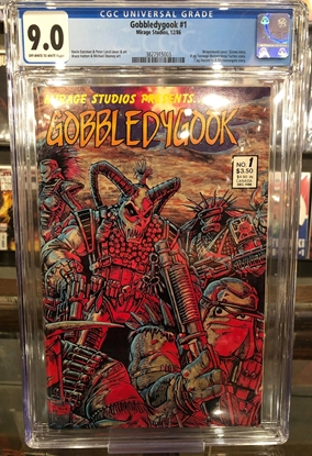 Picture of GOBBLEDYGOOK (1986) #1 / CGC 9.0 VF/NM EASTMAN & LAIRD ART
