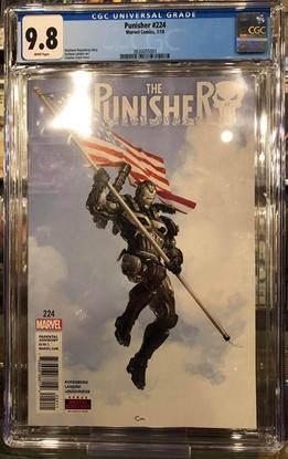 Picture of PUNISHER #224 / CGC 9.8 NM/MT / WAR MACHINE CRAIN COVER
