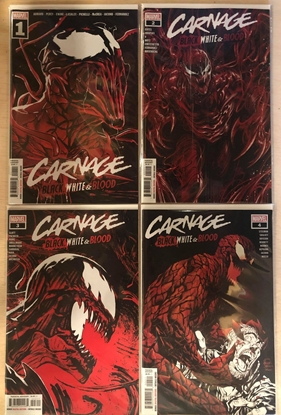 Picture of CARNAGE BLACK WHITE AND BLOOD #1 2 3 4 / 1ST PRINT SET NM