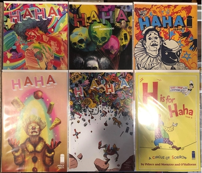 Picture of HAHA #1 2 3 4 5 6 / 1ST PRINT COVER B VARIANT SET / MAXWELL PRINCE NM