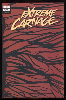Picture of EXTREME CARNAGE ALPHA #1 SYMBIOTE VARIANT COVER