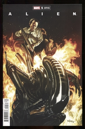 Picture of ALIEN #5 1:25 SUAYAN VARIANT COVER