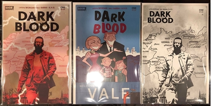 Picture of DARK BLOOD #1 / COVER A & B & 1:10 BLACK WHITE VARIANT SET NM