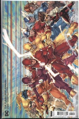 Picture of FLASH 2021 ANNUAL #1 / COVER B BRETT BOOTH CARD STOCK VARIANT