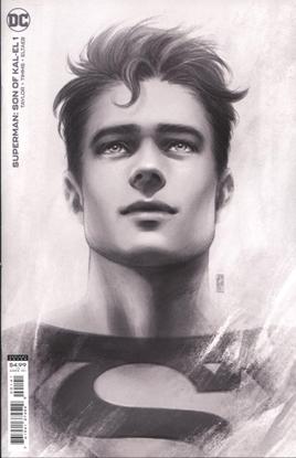 Picture of SUPERMAN SON OF KAL-EL #1 INC 1:25 JEN BARTEL HEADSHOT CARD STOCK VAR