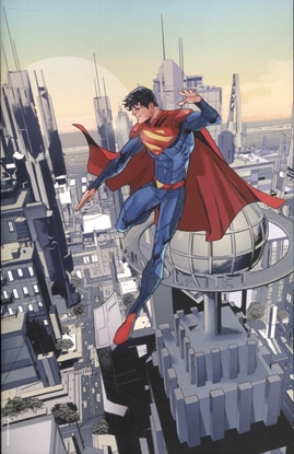 Picture of SUPERMAN SON OF KAL-EL #1 INC 1:50 JOHN TIMMS VIRGIN CARD STOCK VAR