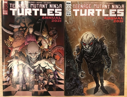Picture of TMNT ANNUAL 2021 COVER A & B BY CASEY AND EASTMAN / NM SET