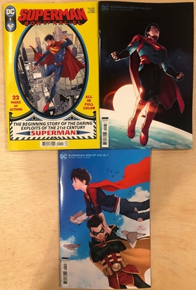 Picture of SUPERMAN SON OF KAL-EL #1 / COVER A B C 3 VARIANT SET NM