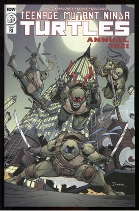 Picture of TMNT ANNUAL 2021 RI 1:10 VARIANT COVER