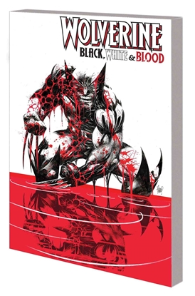 Picture of WOLVERINE BLACK WHITE AND BLOOD TREASURY EDITION TP