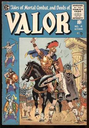 Picture of VALOR (1955) #4 WALLY WOOD COVER ART 7.0 FN/VF