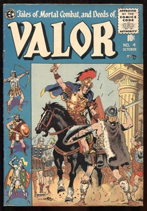 Picture of VALOR (1955) #4 WALLY WOOD COVER ART 3.5 VG-
