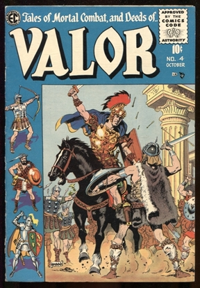 Picture of VALOR (1955) #4 WALLY WOOD COVER ART 7.5 VF-