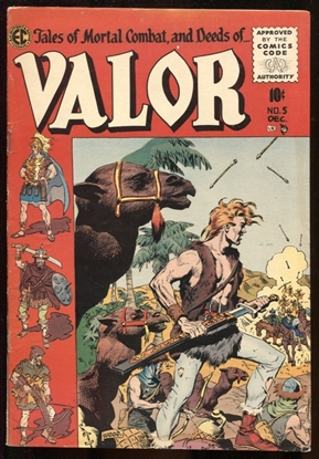 Picture of VALOR (1955) #5 WALLY WOOD COVER ART / 3.5 VG-
