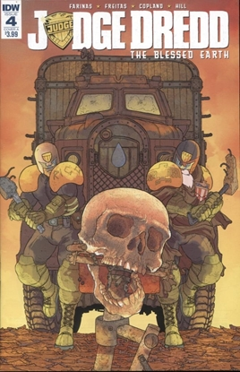 Picture of JUDGE DREDD BLESSED EARTH #4 CVR A FARINAS
