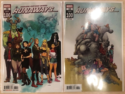 Picture of RUNAWAYS #38 / 1ST PRINT & ALPHONA VARIANT COVER SET #100