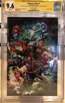 Picture of UNCANNY X-MEN (2019) #1 / CGC SS SIGNED BY FINCH VIRGIN VARIANT 1:200 9.6