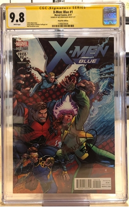 Picture of X-MEN BLUE (2017) #1 / CGC SS SIGNED BY NICK BRADSHAW / FRIED PIE