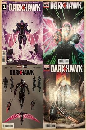 Picture of DARKHAWK #1 (2021) / 1ST PRINT, LARRAZ, RON LIM, YU VARIANT COVER SET
