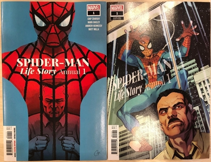 Picture of SPIDER-MAN LIFE STORY ANNUAL #1 / 1ST PRINT & BAGLEY VARIANT COVER SET NM