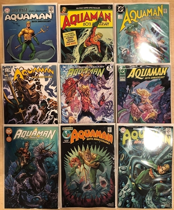 Picture of AQUAMAN 80TH ANNIVERSARY 100-PAGE SUPER SPECTACULAR #1 (ONE SHOT) 9 COVER SET NM