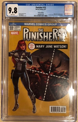 Picture of PUNISHER #13 / MARY JANE VARIANT CGC 9.8 NM/MT SPIDER-MAN 129 HOMAGE