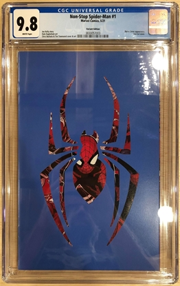 Picture of NON-STOP SPIDER-MAN #1 DIE CUT VARIANT CHIP KIDD CGC 9.8 NM/MT