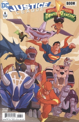 Picture of JUSTICE LEAGUE POWER RANGERS #6 (OF 6) (RES)