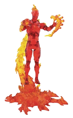 Picture of MARVEL SELECT HUMAN TORCH ACTION FIGURE