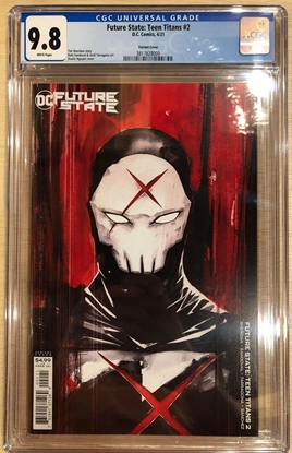 Picture of FUTURE STATE TEEN TITANS #2 / VARIANT COVER B RED X COVER / CGC 9.8