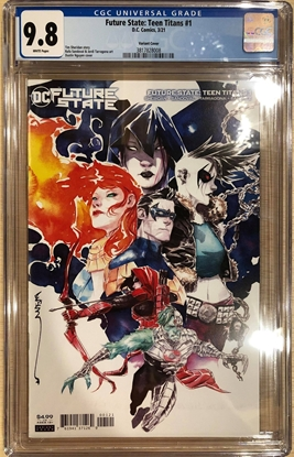 Picture of FUTURE STATE TEEN TITANS #1 / VARIANT COVER B 1ST RED X / CGC 9.8