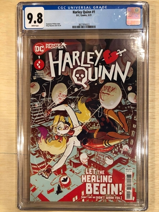 Picture of HARLEY QUINN (2021) #1 / 1ST PRINT COVER A BY ROSSMO / CGC 9.8