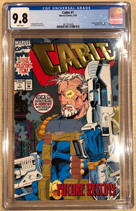 Picture of CABLE (1993) #1 / GOLD FOIL COVER / DIRECT EDITION 9.8 CGC