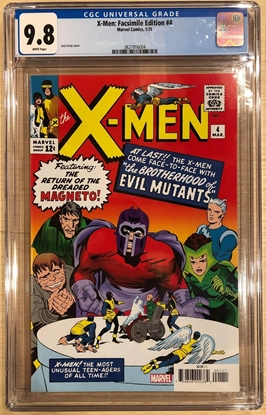 Picture of X-MEN #4 / FACSIMILE EDITION / 1ST QUICKSILVER & SCARLET WITCH CGC 9.8