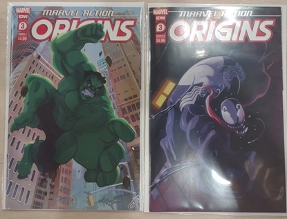 Picture of MARVEL ACTION ORIGINS #3 / COVER A AND B VARIANT SET HULK VENOM