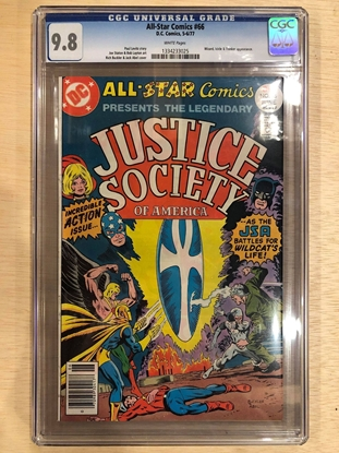 Picture of ALL STAR COMICS #66 / CGC 9.8 NM/MT WHITE PAGES / JSA DC COMICS