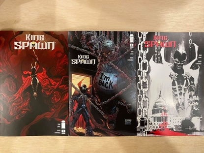 Picture of KING SPAWN #2 / COVER A B C / SET OF 3  VARIANT NM