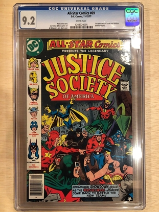 Picture of ALL STAR COMICS (1940) #69 / CGC 9.2 NM- 1ST EARTH TWO HUNTRESS