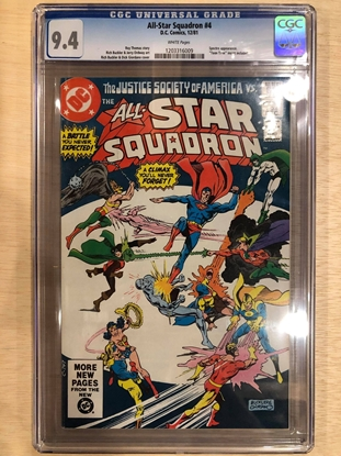 Picture of ALL STAR SQUADRON #4 / CGC 9.4 NM WHITE VS JSA / WHITE PAGES