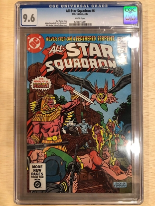 Picture of ALL STAR SQUADRON #6 / CGC 9.6 NM+ HAWKMAN COVER / WHITE PAGES