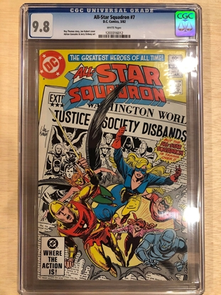 Picture of ALL STAR SQUADRON #7 / CGC 9.8 NM/MT KUBERT COVER / WHITE PAGES