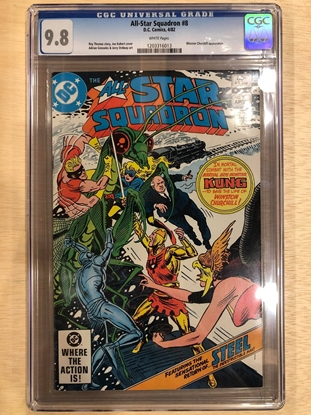 Picture of ALL STAR SQUADRON #8 / CGC 9.8 NM/MT KUBERT COVER / WHITE PAGES