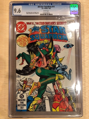 Picture of ALL STAR SQUADRON #11 / CGC 9.6 NM/MT KUBERT COVER / WHITE PAGES